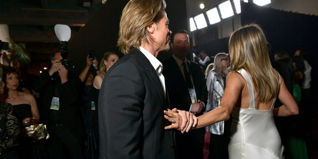 Fans went crazy over photos of Brad Pitt and Jennifer Aniston's reunion at the 26th Annual Screen Actors Guild Awards.