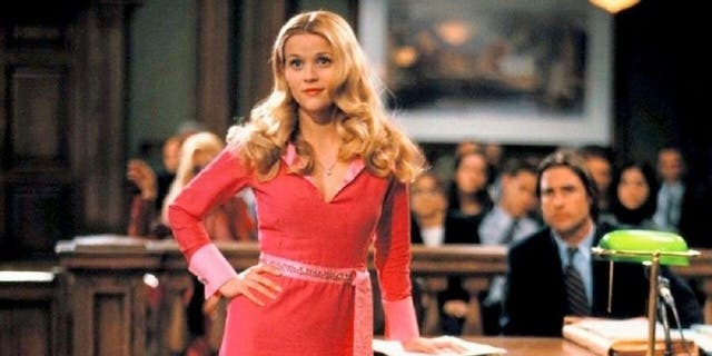 The Oscar-winning actress, pictured here as Elle Woods in 'Legally Blonde,' quipped to 'SmartLess' podcast co-hosts, Will Arnett and Sean Hayes, that 'our standards have become pretty low in this country.'