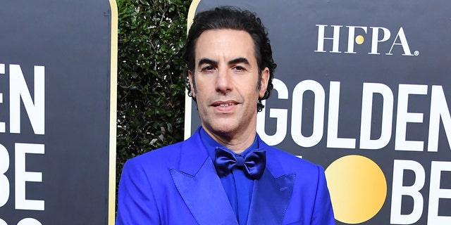 Sacha Baron Cohen mocked Donald Trump and Rudy Giuliani at the 2021 Golden Globes.