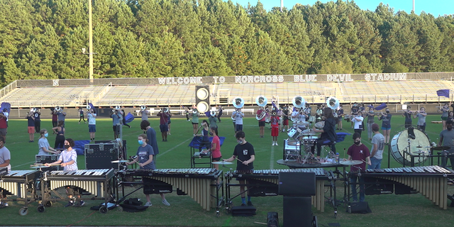 The Norcross marching band practicing before its next performance. (Source/Fox News )