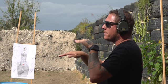 Jeremy Liggett teaches firearm safety and training in Florida. An Army veteran and former law enforcement officer, he will be casting his first vote this November (Robert Sherman, Fox News).