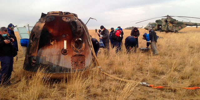 The Soyuz MS-16 capsule carrying NASA astronaut Chris Cassidy, and Roscosmos' Anatoly Ivanishin and Ivan Vagner landed on the steppes of Kazakhstan, southeast of the town of Dzhezkazgan, on Thursday.