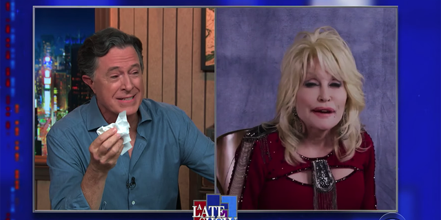 Stephen Colbert recently got emotional after hearing Dolly Parton sing on 'The Late Show.'