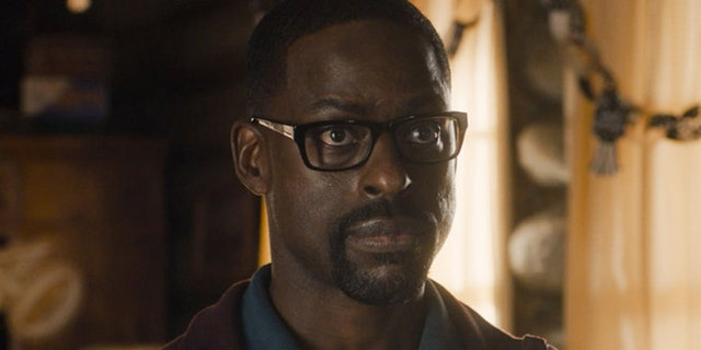 "Sterling K. Brown as Randall grapples with the emotional trauma of police brutality in the Season 5 premiere of ""This Is Us."""