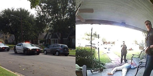"""""""Neighbors told me cop cars were in front of my house a lot during the day,"""" Novak said, alleging that some officers told him the décor was """"cool."""""""
