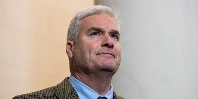 Rep. Tom Emmer, R-Minn., participates in the press conference following the House GOP leadership elections in the Longworth House Office Building on Nov. 14, 2018. (Photo By Bill Clark/CQ Roll Call)