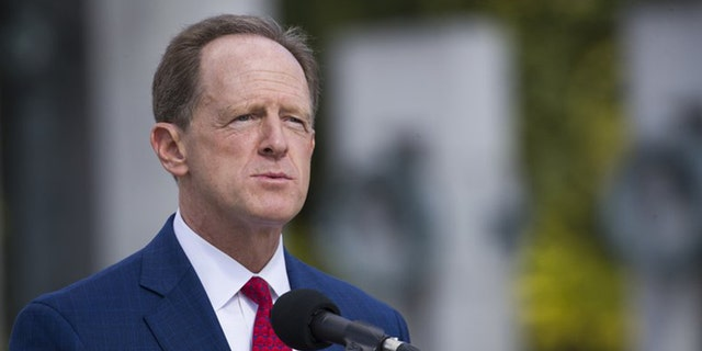 Sen. Pat Toomey, R-Pa., speaks during a ceremony Wednesday, Sept. 18, 2019, in Washington. Toomey will not seek re-election in 2022, he announced Monday morning. (AP Photo/Alex Brandon)