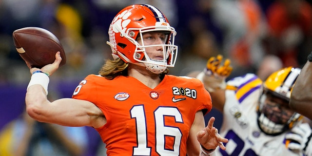Georgia Tech will play at home against the nation's top-ranked team for the first time in 40 years when No. 1 Clemson, let by the high-profile tandem of quarterback Trevor Lawrence and running back Travis Etienne, puts its perfect record on the line on Saturday, Oct. 17. (AP Photo/David J. Phillip, File)