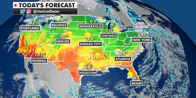 The national forecast for Oct. 13, 2020.