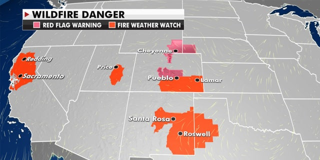 Current wildfire danger across the West.