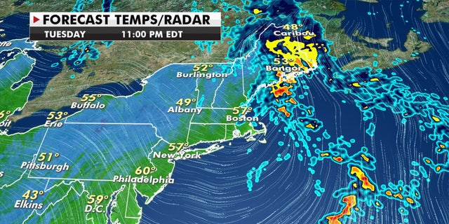 A final round of rain is moving out of the Northeast on Tuesday, Oct. 13, 2020.