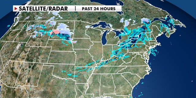 Another round of snow is moving across the northern tier of the country on Tuesday, Oct. 20, 2020.