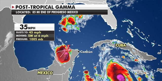 Mexico's Yucatan Peninsula is still feeling the impacts from Tropical Storm Gamma.