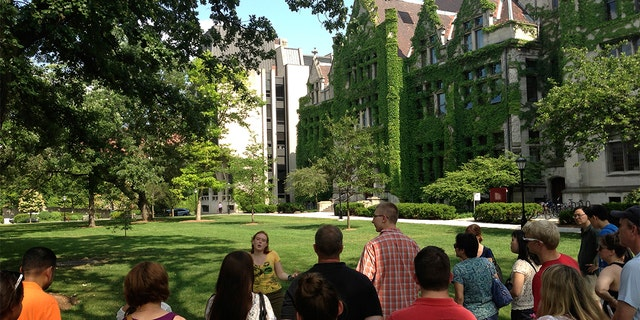 A tour of the University of Chicago campus. (AP Photo/Jon Elswick)
