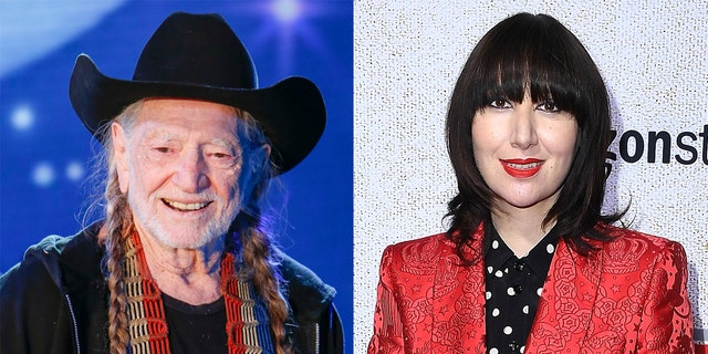 Willie Nelson (links) and Karen O (reg) have released a cover of Queen and Dabid Bowie's 'Under Pressure.'