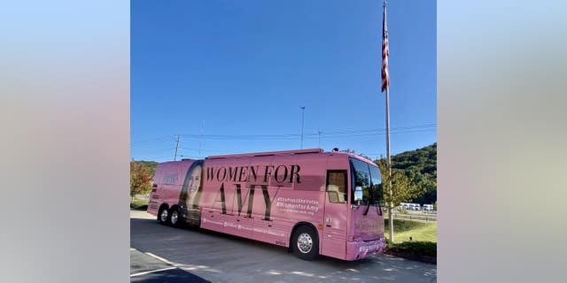 "The ""Women for Amy"" bus that will be touring nationwide starting Wednesday in Atlanta, Ga. (Concerned Women for America)"