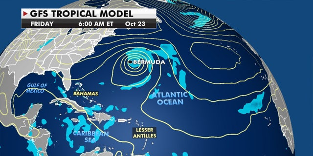 The system may bring impacts to Bermuda by the end of the week.