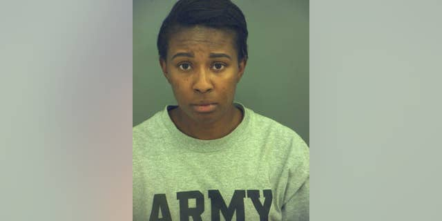 Army officer Clevy Muchette Nelson-Royster, 27, was being held in connection with an Army captain's death at Fort Bliss, Texas, authorities said. (El Paso Police)