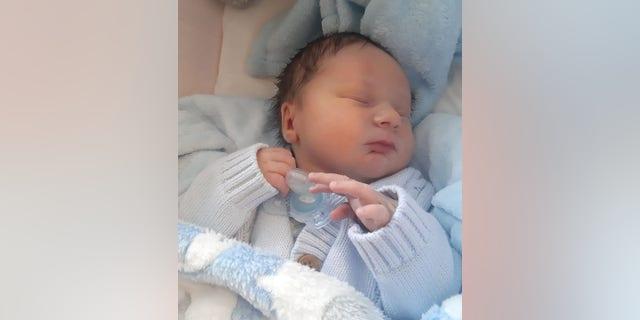 Surprise!Little Alfie Sexton was born on Sept. 20.