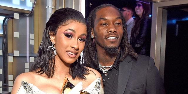 Cardi B and Offset filmed themselves driving through a rally of Trump supporters in Los Angeles