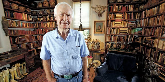 Forrest Fenn, seen here posing at his Santa Fe home, in 2014, had first devised the idea for a treasure hunt following his cancer diagnosis in the late 1980s.