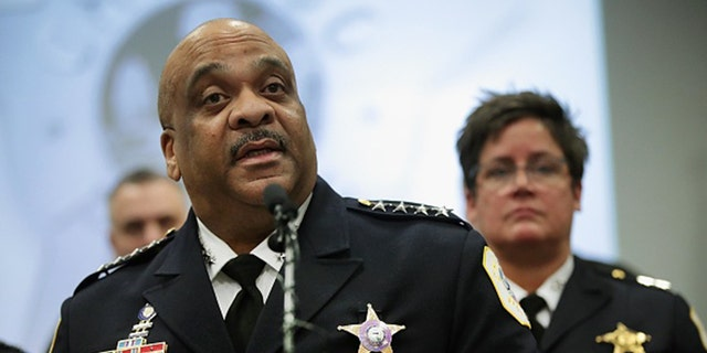 Former Chicago Police Superintendent Eddie Johnson in 2019. (Photo by Scott Olson/Getty Images)