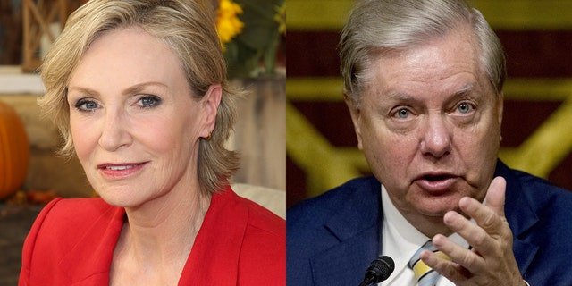 Jane Lynch criticized Sen. Lindsey Graham at the hearings for Amy Coney Barrett.