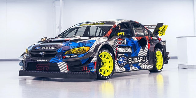 Pastrana's Subaru WRX STI was specially built for the