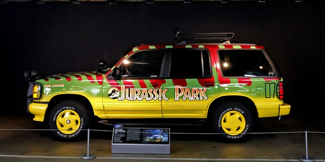 "An authentic Explorer used to film Jurassic Park was featured in the ""Hollywood Dream Machines: Vehicles Of Science Fiction And Fantasy"" exhibit at the Petersen Automotive Museum."