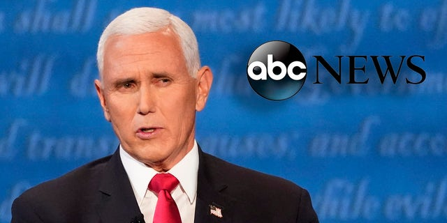 "ABC's ""Fact-checking the 2020 vice presidential debate between Mike Pence and Kamala Harris,"" promised to review ""what both candidates said"" but went on to examine only Pence's comments. (AP Photo/Julio Cortez)"