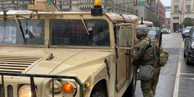 National guard arriving philly city hall