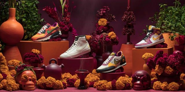 Nike's newest Dia de Muertos collection will be released worldwide on Oct. 15. (Nike)