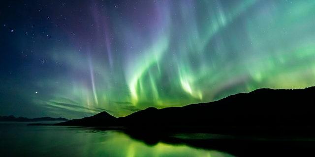 Aurora Borealis (northern lights) in southeast Alaska seen in late summer. (iStock)