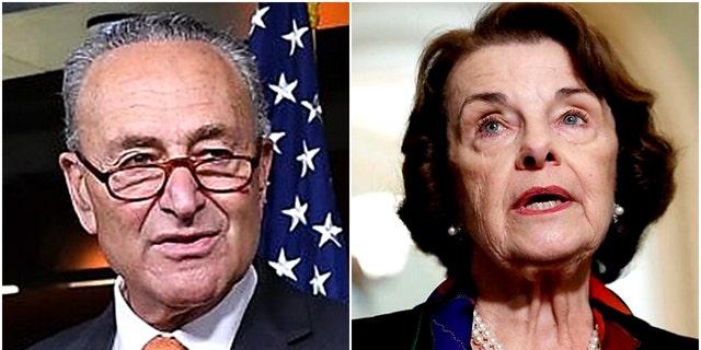 "Senate Minority Leader Chuck Schumer says he had a ""long and serious talk"" with fellow Democrat Sen. Dianne Feinstein."