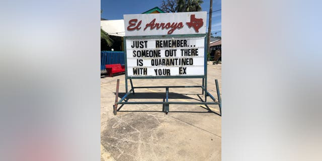 """""""The signs bring a lot of laughter,"""" Laura Schulte, El Arroyo's social media manager, explained."""