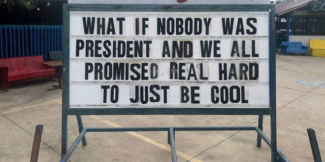 """""""What if nobody was president and we all promised real hard to just be cool [?]"""" another wondered."""