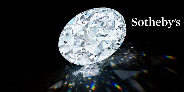 The 102.39-carat D Color Flawless Oval Diamond. (Sotheby's)