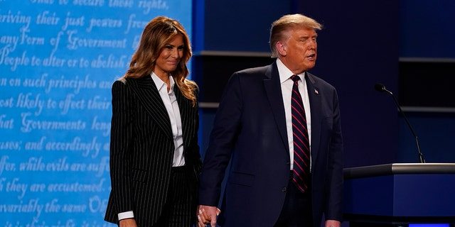 President Donald Trump and first lady Melania Trump tested positive for COVID-19, the president confirmed early on Friday morning. (AP Photo/Patrick Semansky)