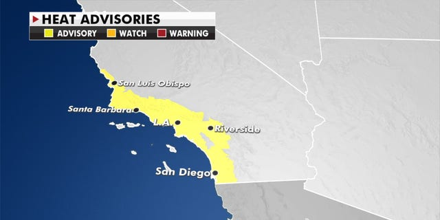 Heat advisories stretch through Southern California on Wednesday, Oct. 14, 2020.