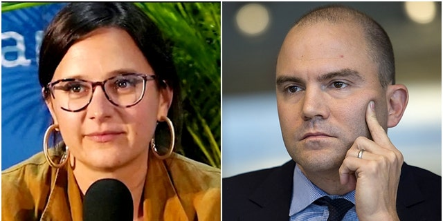 """Writer Bari Weiss, left, responded Wednesday after former Obama administration official Ben Rhodes accused Republicans of spreading """"disinformation."""""""