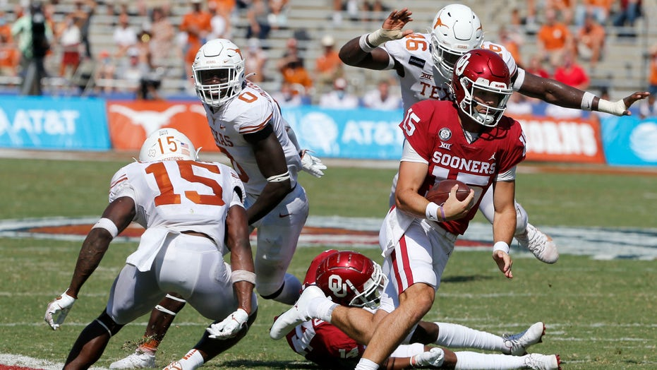 Rattler TD pass in 4th OT sends OU past No. 22 Texas 53-45