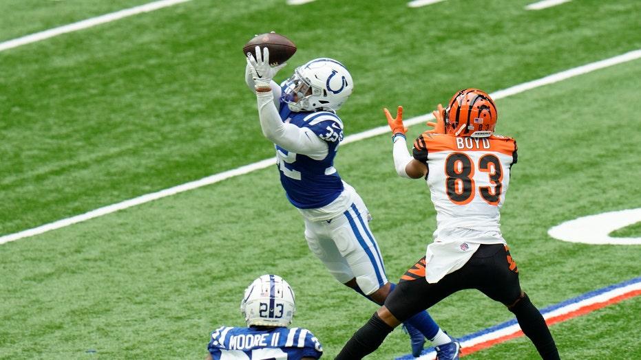 Colts' Julian Blackmon fined for helmet hit on Ravens' Lamar Jackson