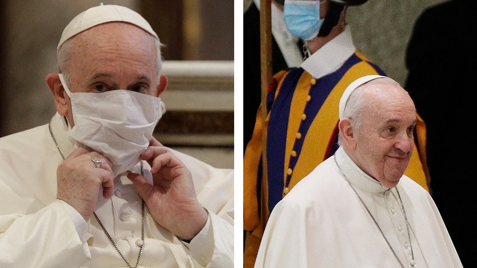 Pope Francis returns to not wearing a mask amid growing criticism