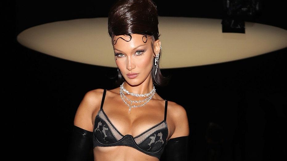 Bella Hadid stuns in Rihanna's Savage X Fenty lingerie show