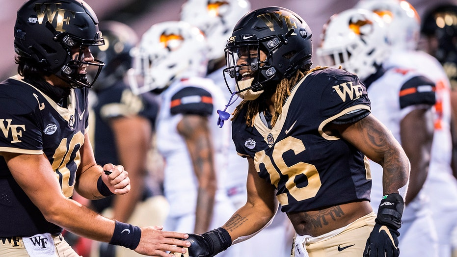 Beal-Smith rushes for 3 TDs, Wake Forest eases past Campbell