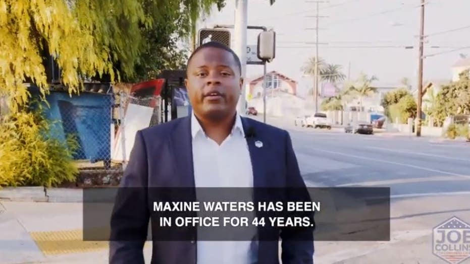 Navy veteran Joe Collins targets Democrat Maxine Waters' home in campaign ad