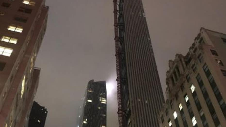 Crane in New York City's 'Billionaires' Row' spins out of control, sends debris flying to the ground