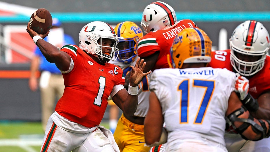 King's 4 TD passes lead No. 13 Miami past Pittsburgh, 31-19