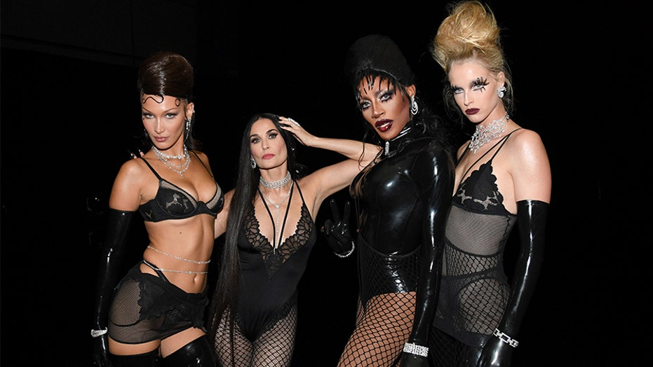 Demi Moore, 57, stuns in fishnets, black lace at Rihanna's Savage X Fenty lingerie fashion show