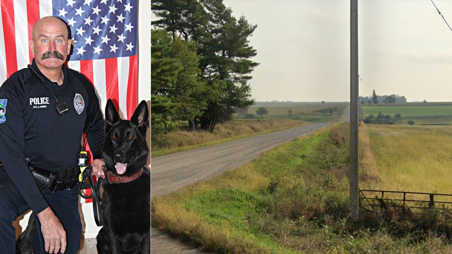 Iowa police dog locates boy, 2, who wandered from home with family canine
